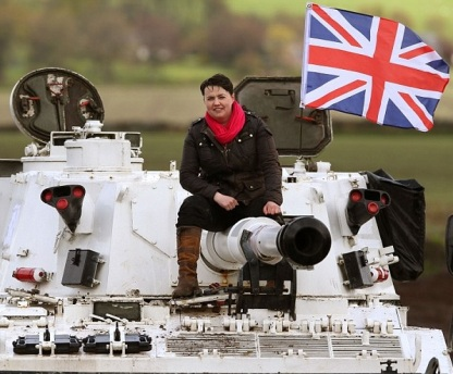 Ruth Davidson on a tank