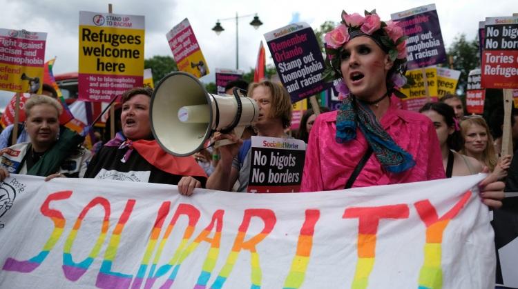 LGBTQ protestors