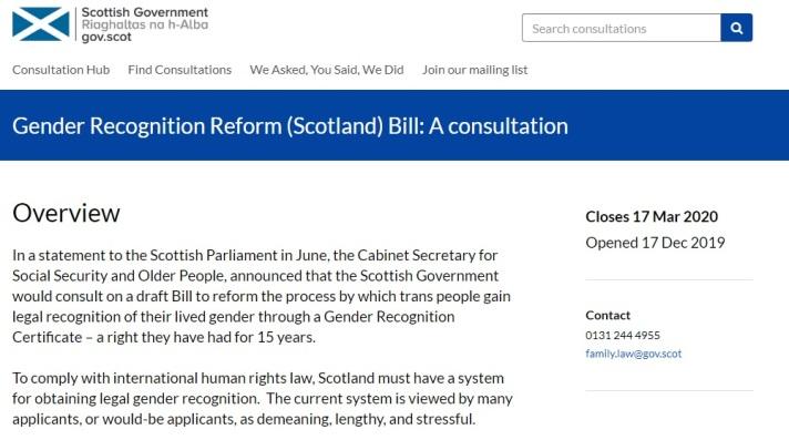 Scottish Government consultation