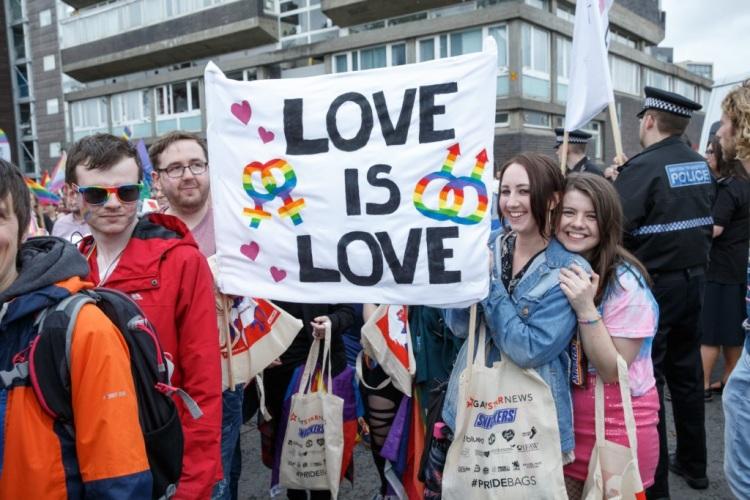 Pride marchers in Glasgow